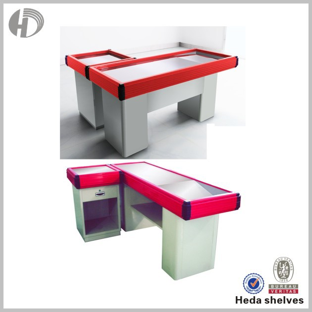 CE / BV certification L shape supermarket cash counter for sale