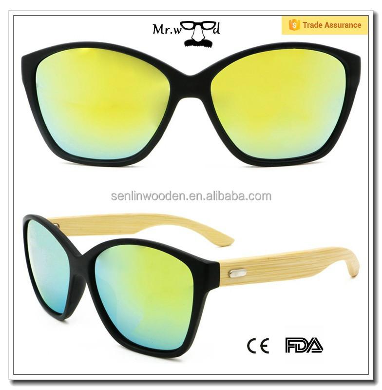 Mr.wood Sunglasses 2015 New Products Plastic Frame Bamboo Leg ...