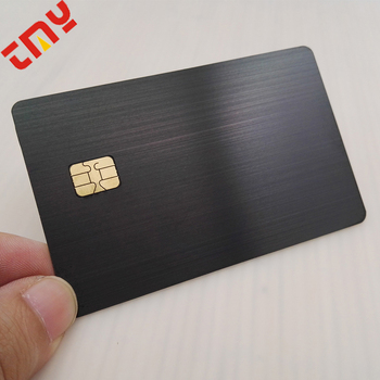 OEM Hot Selling Blank Metal Visa Credit Cards With Magnetic Stripe