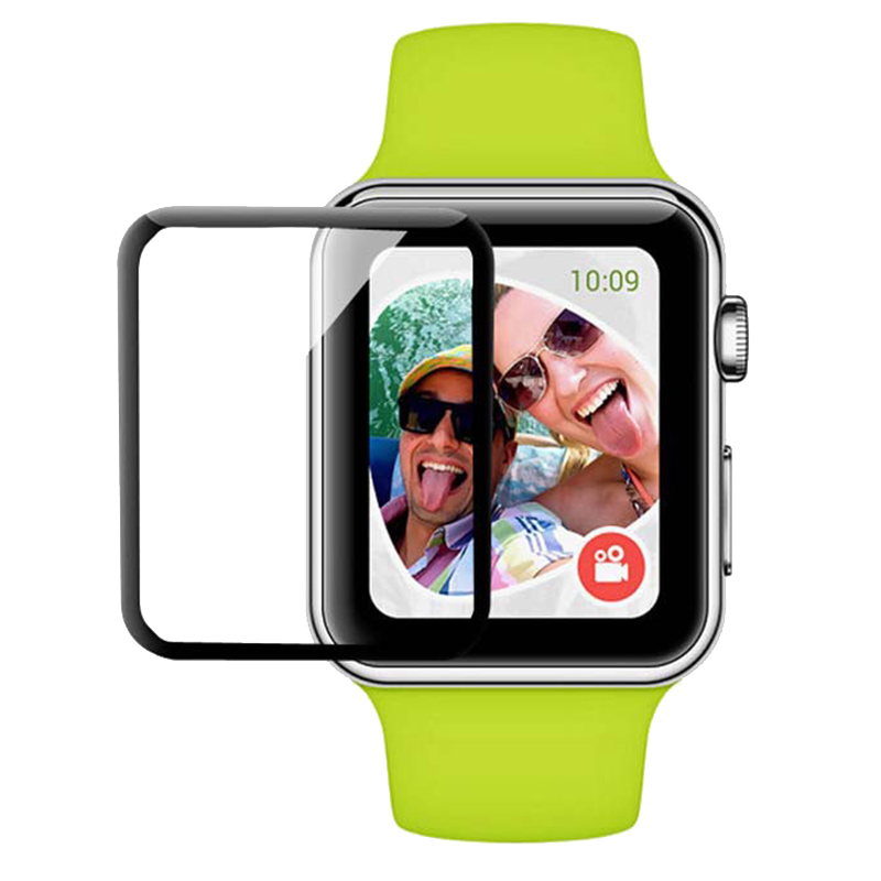 Premium Full Cover Silk Print Tempered Glass For Apple Watch 2 3 4 Screen Protector