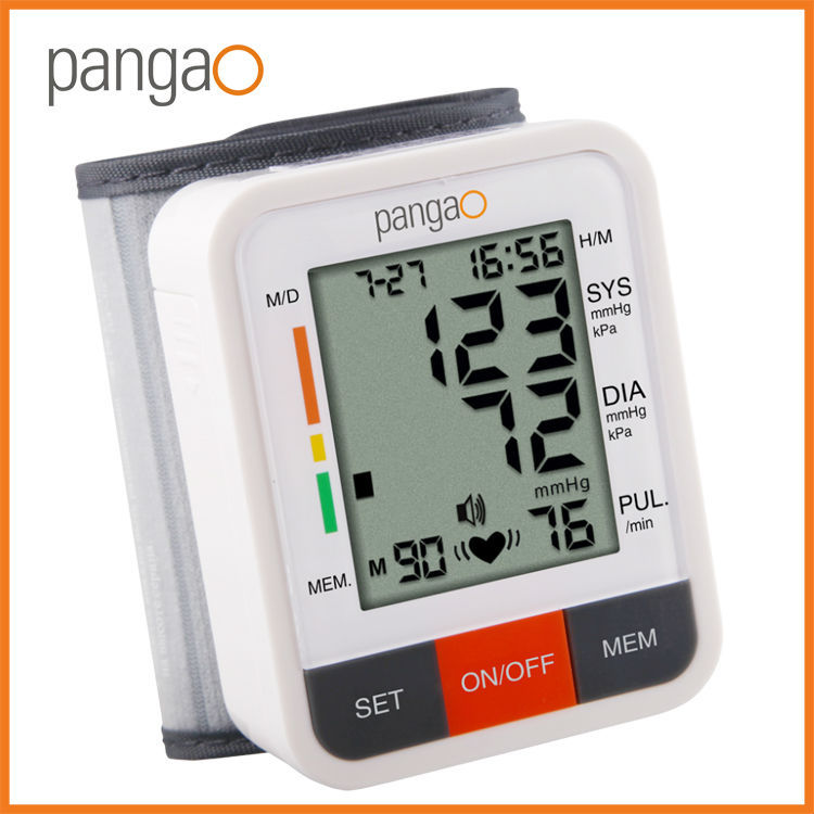 pangao digital wrist type digital blood pressure apparatus whole sale