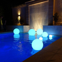 New product outdoor waterproof led ball lights glowing swimming pool led ball