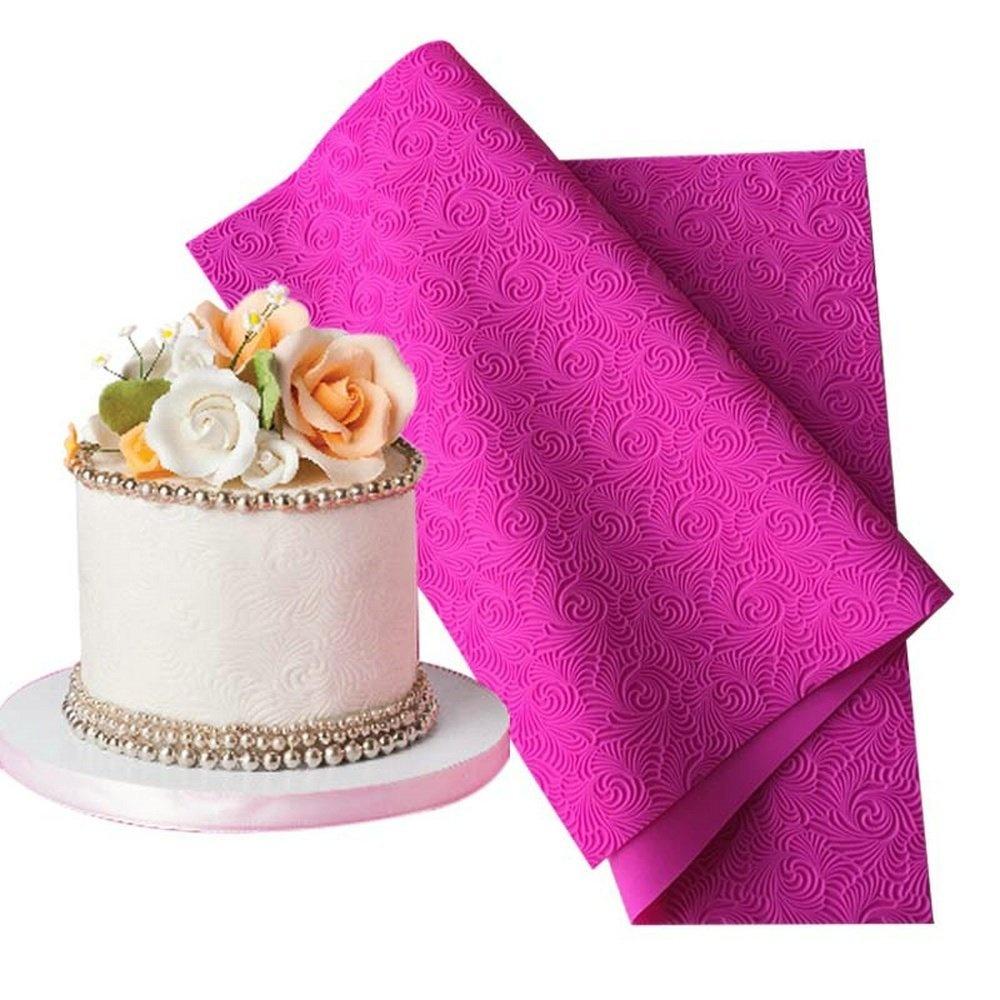 Large Fondant Silicone Impression Mat Wedding Cake Lace Silicone Mat