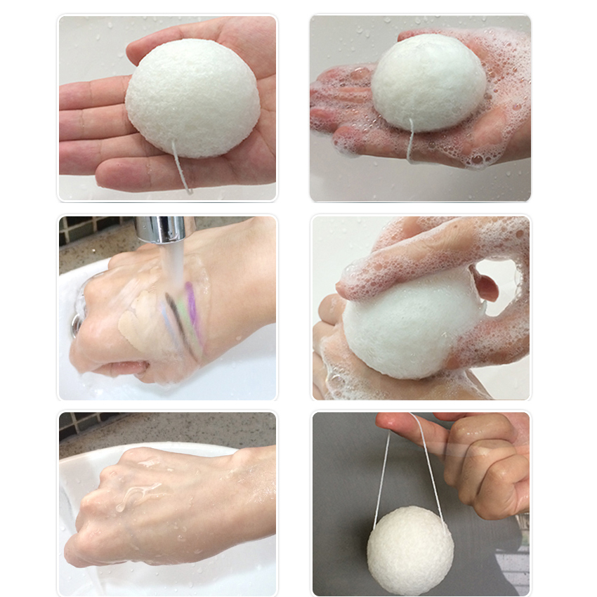 Deep cleansing original burdock cleanser face and bath clean konjac facial sponge
