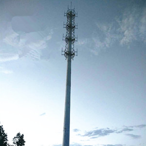 Anti-rust Telecommunication Steel Pole GSM Communication Tower with Galvanization and Powder Coated