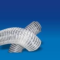 Transparent and compressible flexible plastic tubing
