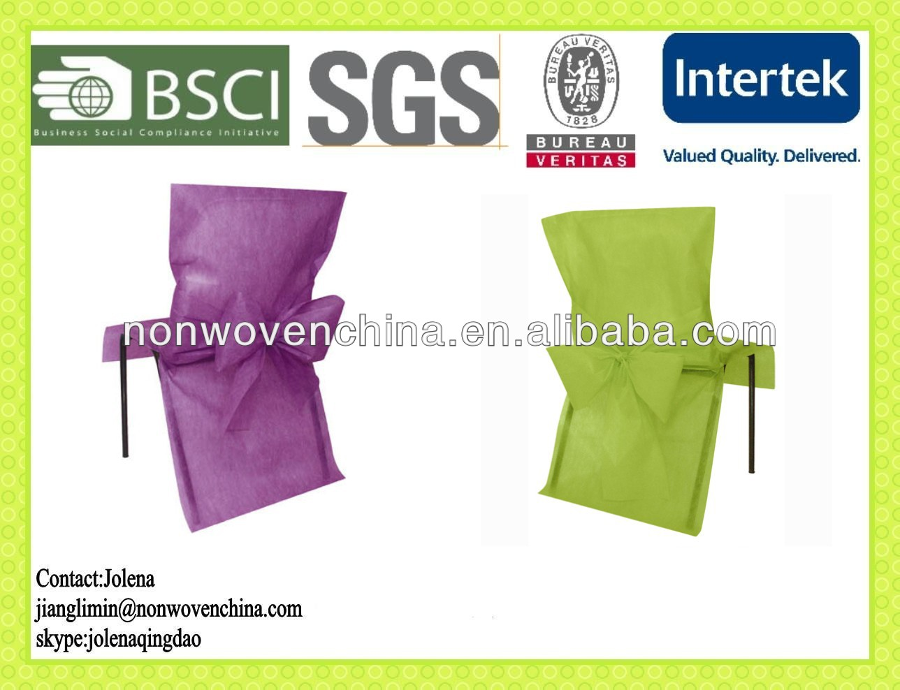 Attractive Non Woven Chair Cover