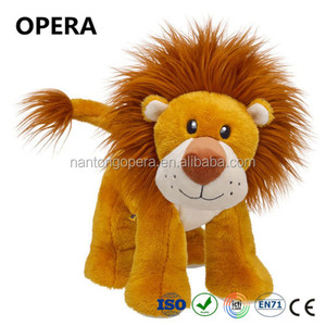 2017 promotional gift golden plush material lion cheap animal skin