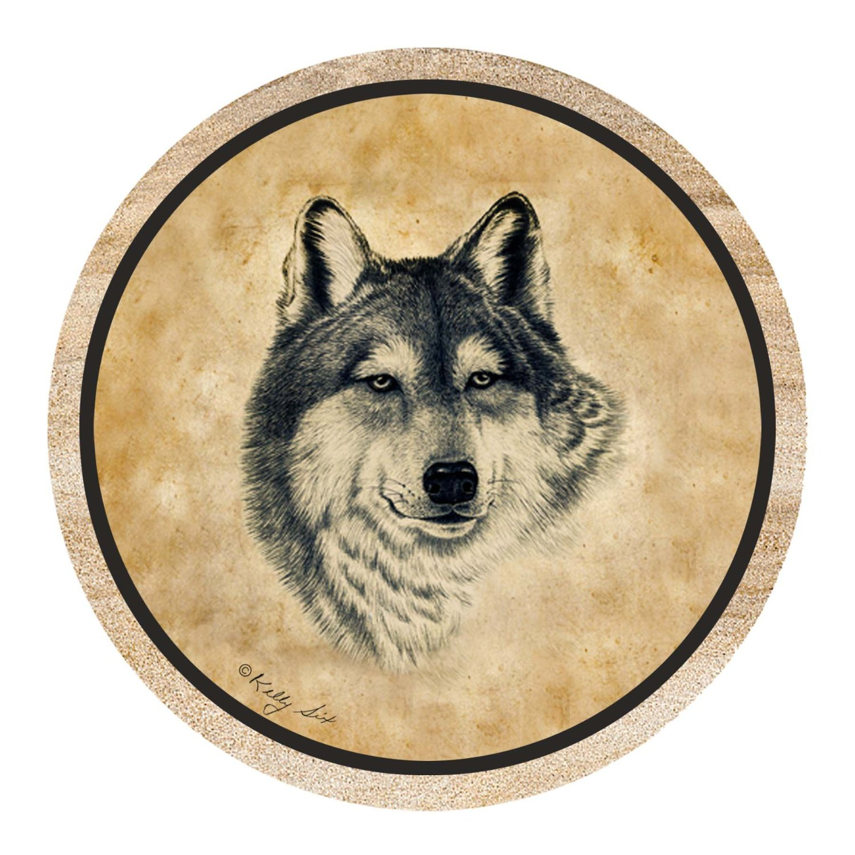 Thirstystone Drink Coaster Set, Wolf