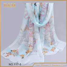 Factory Popular attractive style crinkle silk scarf with workable price