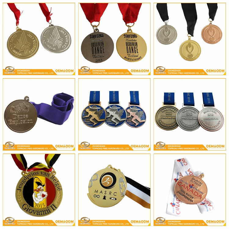 China supplier professional souvenir craft custom metal sports medals and trophies