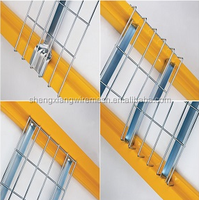 Warehouse flared style wire mesh rack decking/Galvanization wire mesh shelf/wire deck panel on selective pallet rack