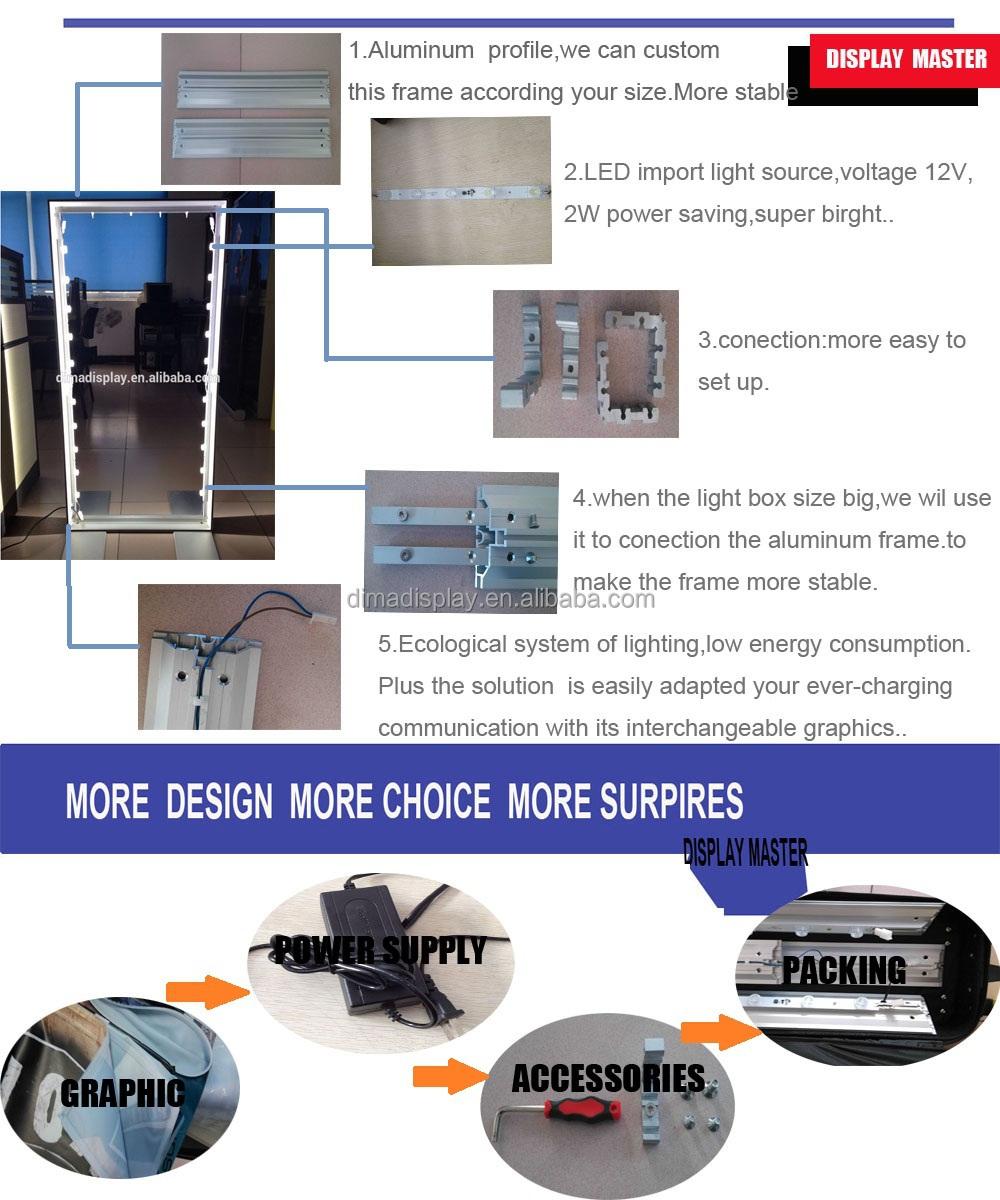 Floor Stand Sliver Led Light Box Frame,Light Frame,Fabric Light ...