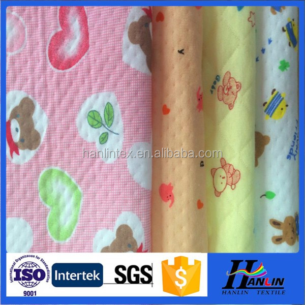 Baby wear double knitted 100 cotton printed jersey fabric wholesale, wholesaler of baby cloth diaper
