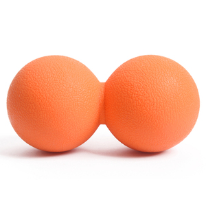 Natural silicone rubber not break peanut massage ball peanut lacrosse ball