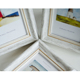 Wooden like classic white plastic moulding for wedding photo frames factory