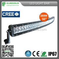 50 inch 288W 4x4 Led Car Light, Curved Led Light bar Off road,auto led light arch bent DRCLB288-C with LED Chip Build-in