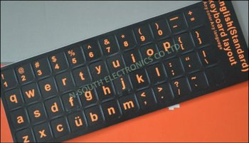 fluorescent orange colour US language Laptop Keyboard Sticker lowercase small letter