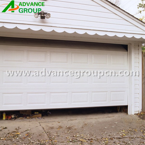 9x8 American open style steel garage door