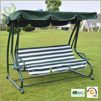 HL CS 13001Garden Three Seat Patio Swing With Canopy, Canopy Swing Chair,