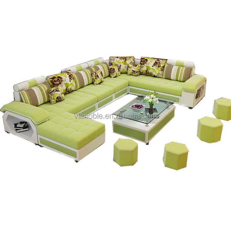 Fashion U Shaped Leather Sofa Set 7 Seater Lounge Furniture Buy