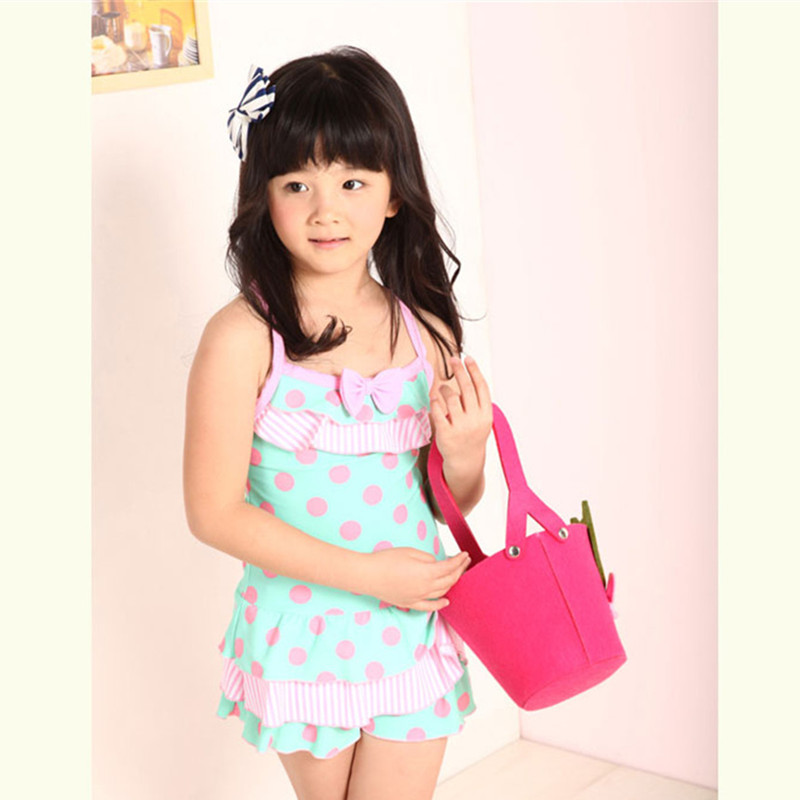 1acb3006829 Buy New Design Kids Swimwear For Girls One Piece Skirt Swimwear Cute Polka  Dot Children Swimsuit Small Bow Bikini in Cheap Price on m.alibaba.com