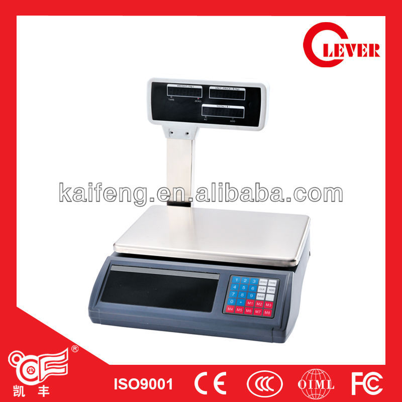 Table top Electronic balance ACS-L2 Digital price computing scale with arm 3kg-30kg from Kaifeng