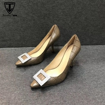 Top Quality Alligator Skin Women High Heel Dress Shoes Stilettos