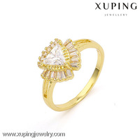 Lastest design 14k gold color zirconia engagement rings