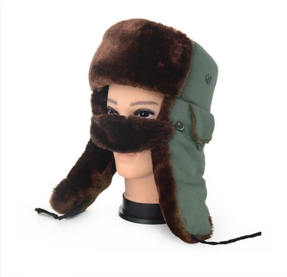 Get Quotations · Extrathick Earflap Trapper Bomber Aviator Russian Trooper  Fur Winter Ski Hat Men Women russian fur hat 6bc8b994d15b