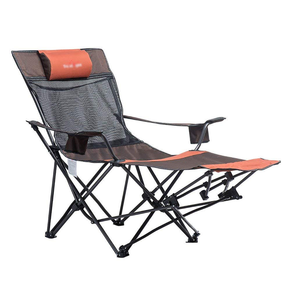 Automatic Adjustable Recliner Outdoor Portable Folding Chair Office Lunch Break Chair Household Comfortable High Backrest Chair