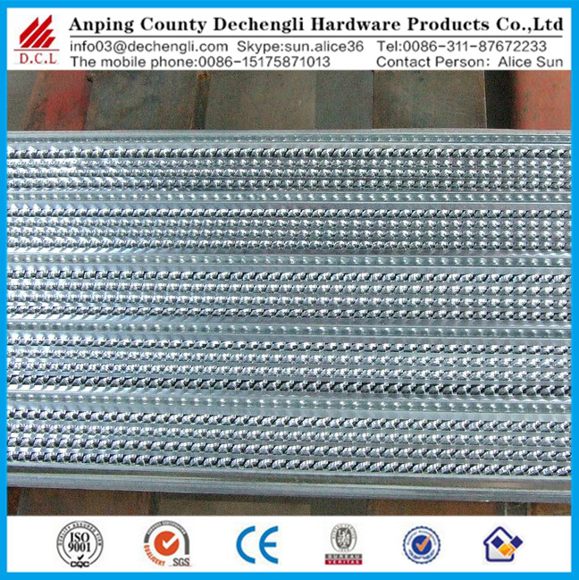 Expanded metal mesh machine formwork rib lath for building