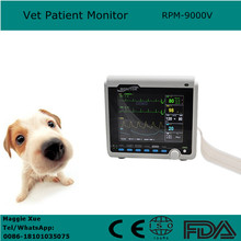 Hospitals and Clinics 8.4 inch animal / Vet Patient Monitor thermal recorder portable veterinary patient monitor