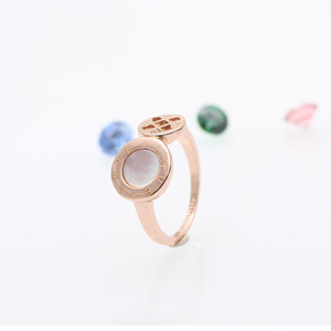 Women Cheap Shell Gold Plated Love Rings African Asia Fashion Jewelry With Enough Stock for Online Sale
