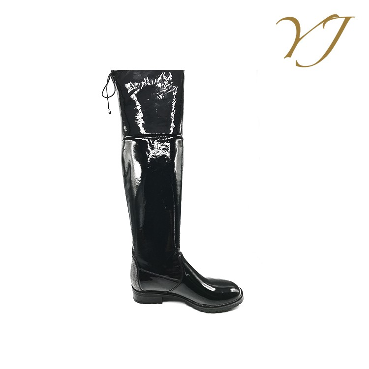 2017 new arrival online leather overknee flat sexy boots winter ladies boots