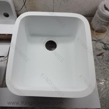Sinonimo Di Lavandino Della Cucina.Superficie Solida Dispersori Di Pietra Esterna A Forma Di Conchiglia
