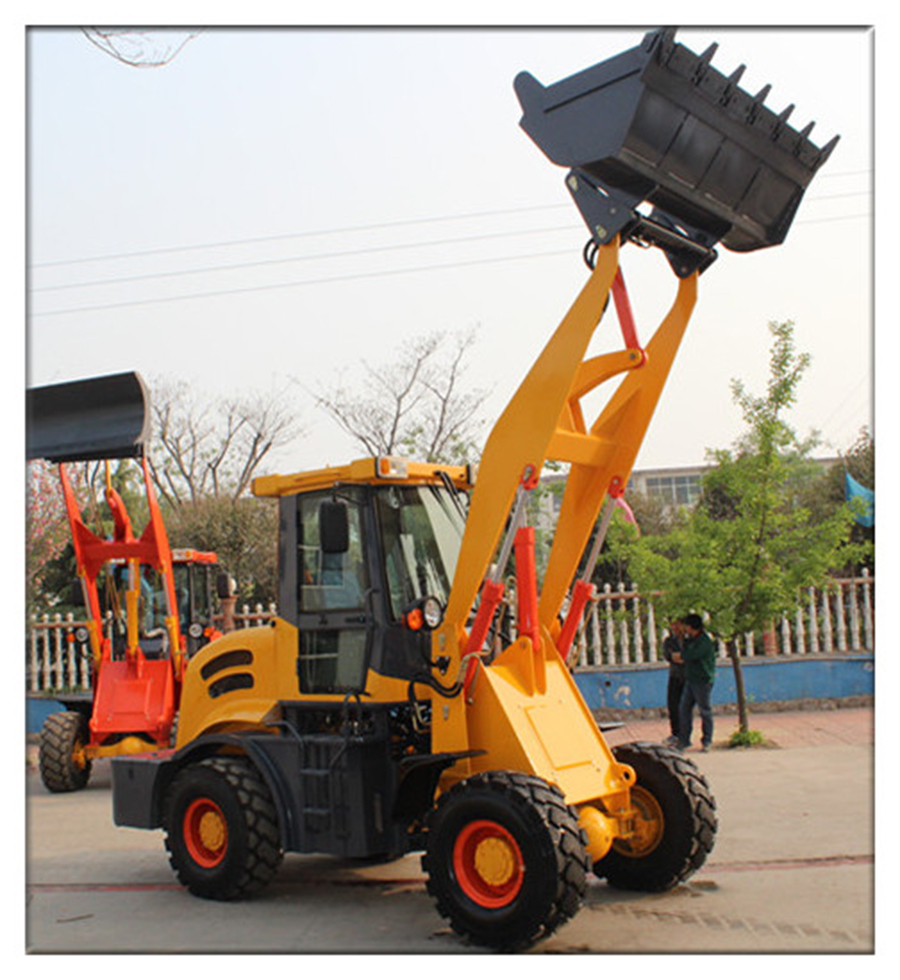 mini wheel loader used for construction and earthmoving