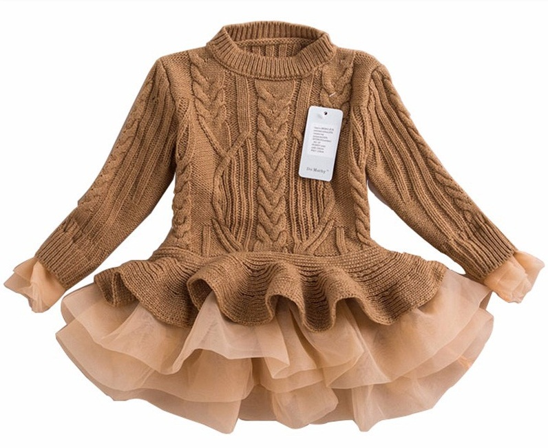 7d18d0a9568e9 1pc/lot Knitted Sweater Dress 2015 Autumn Winter Wholesale Pullover  Sweaters With Lace Shrugs Dresses Crochet Long grils sweater