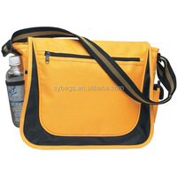 high quality messenger bag / nice 600D school messenger bag / messenger bag with bottle holder