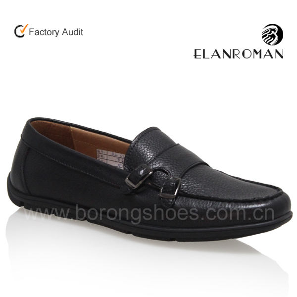 cow with High Borong shoes casual Lichee end men leather loafer rq8w8Yd6