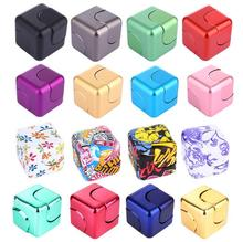 Funny Fidget Cube Spinner Adult Anti Stress Toys Spin Puzzle Magic Cube Finger Toys Small Gifts For Men