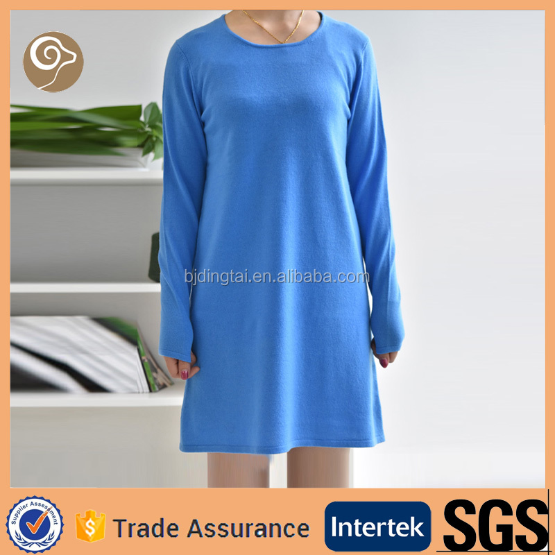 Long dress pattern knitted cashmere sweater womens sale
