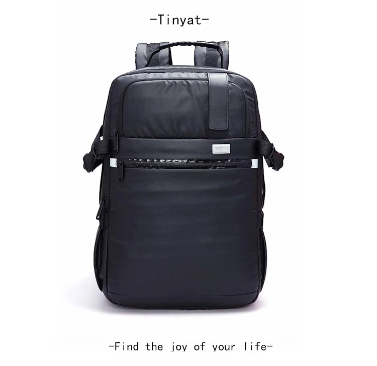 T807 High Capacity Leather Like Men School Bag Laptop Backpack