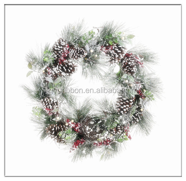 Handmade PVC Christmas Garland With LED Lights Chain 2013 for Wall Decoration