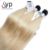 1B/613 Straight Dark Root to Blonde Russia Blond Russe Jaune Cheveu Bresil Ombre Mixed Color Long Medium Hair Extensions