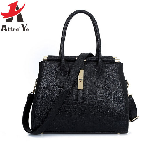 Atrra-Yo! Free Shipping! 2015 Hot Sale Women Handbag Leather women Messenger Bags  Crocodile Shoulder Bag ladies LS6068
