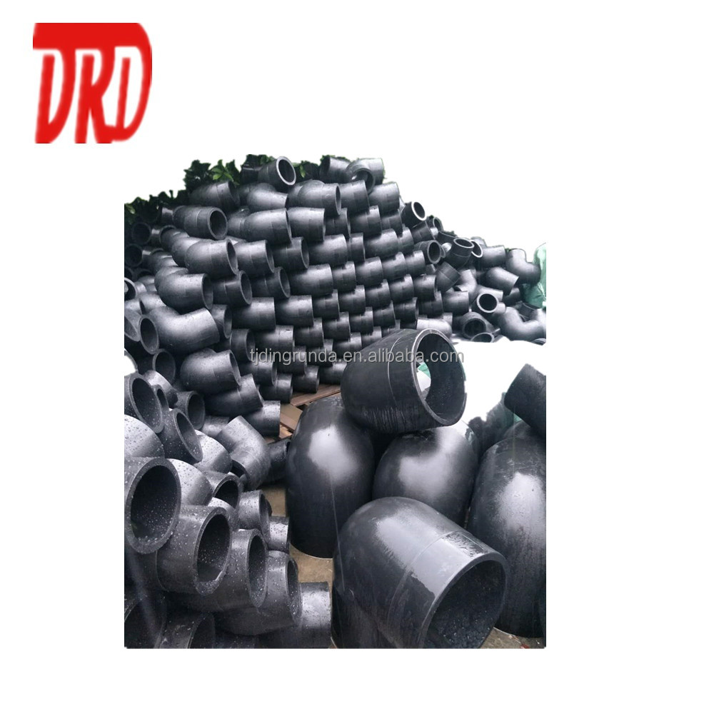 HDPE pipe fitting 560mm long radius 45degree hdpe bend hdpe tee 560mmx560mmx560mm