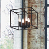 Glass Lantern Candle Bulb Industrial Vintage Lighting Castle Style Pendant Chandelier
