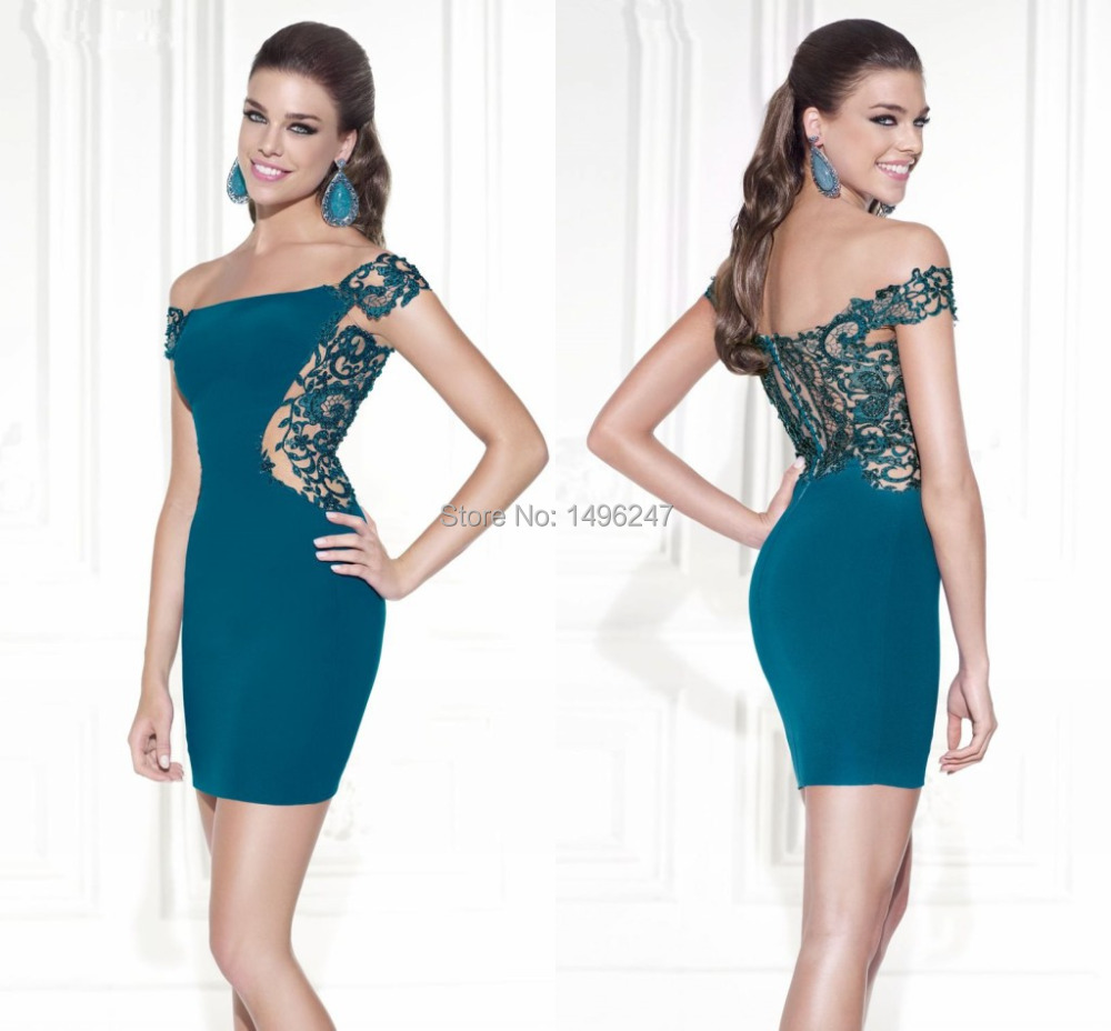 Aliexpress Com Buy Simple Elegant See Through Lace Part: Short Tight Prom Dresses Promotion-Shop For Promotional