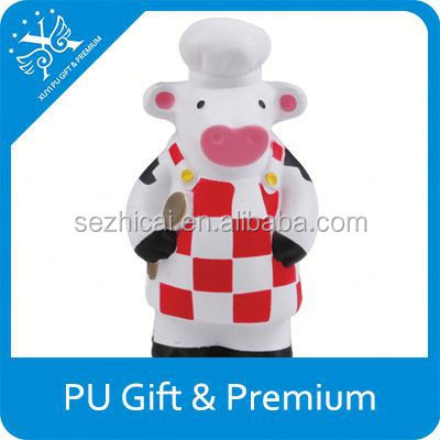 White And Black PU Stress Cow